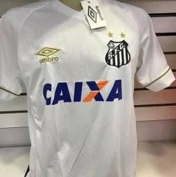 Camisa do Santos Umbro Modelo 2019 1 e 2 Entrego 3741a343bb19e