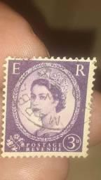 SELOS raríssimos e bem antigos série RAINHA ELIZABETH  3 POR 500.