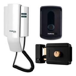 Kit Interfone + Fechadura Intelbras 3 x de R$207,00 Cartão de Crédito