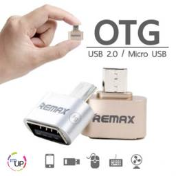 Adaptador OTG Android Micro USB e tipo C OTG para dongle USB em movimento