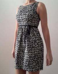 Vestido Zara XS (tam 36)com forro e cinto