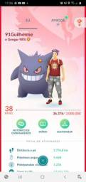 Conta Pokémon Go level 38.