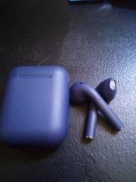 Fone sem fio I12 tws cor dark blue
