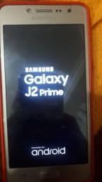 Samsung j2 16g prime dourado sem trincos na tela