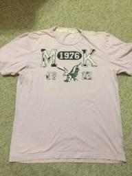 Camiseta Makenji Rugby Original Tamanho M Cor Rosa Claro Impecável Zerada Barbada!