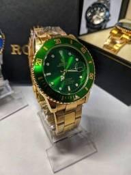 Rolex Submariner Verde linha Gold (1ª Linha)
