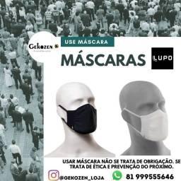Kit 2 máscaras antibacteriana sem costura lupo