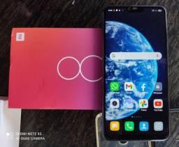 Xiaomi Mi 8 Lite Dual Sim 128 Gb de Memória interna com 6 Gb Ram, na cor Aurora Blue.