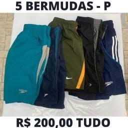 5 - Bermudas Esportivas Tamanho P