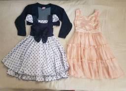 Vestido de Menina Tamanho 06 (os dois por 60,00)