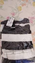 Blusão tricô Henrig Fio Tinto Listrado Alongado Feminino Preto+branco- M