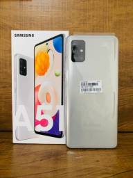 Samsung Galaxy A51 128gb Prata, Novo (Aceito Cartão)