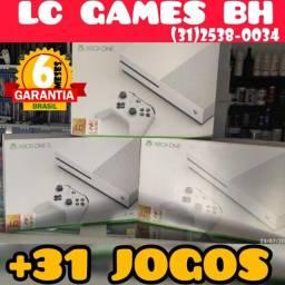 Título do anúncio: Xbox One S 1TB/500GB +31 JOGOs +06 Meses Garantia - Loja Física