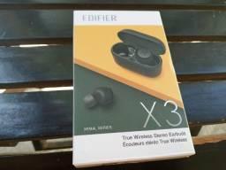 Título do anúncio: fone sem fio edifier X3 novo na caixa