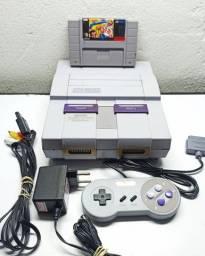 Super Nintendo + Jogo - Parcelo Cartão