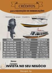 Créditos para embarcações