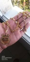 Cordões de moeda banhados a ouro envernizados