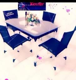 Título do anúncio: Lindas cadeiras de mesa 100% alumínio