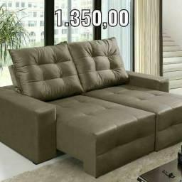 Mega oferta sofá retrátil/reclinável super confortável e bem aconchegante