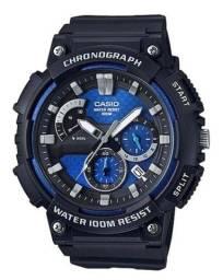 Relógio novo Analógico Casio MCW-200H-2AV - Preto/Azul.