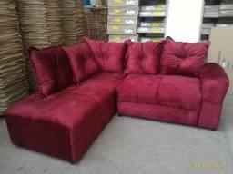 sofá de canto na prmoção