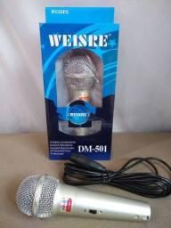 Título do anúncio: Promoção microfone com fio novo lacrado