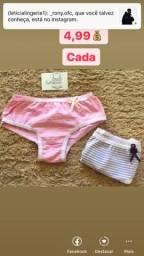 Vendo calcinhas para criança e adulto vendo cuecas também
