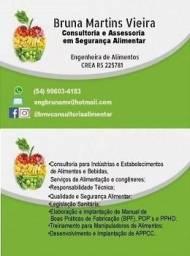 Engenheira de Alimentos - Consultoria em Segurança de Alimentos