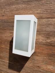 12 Arandelas branca com 6 lados de vidro