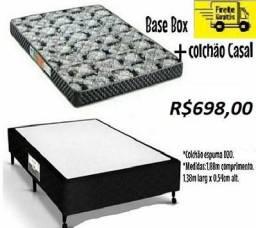 Super Oferta Linda Base+Colchão Casal DN-20 Novo Com Entrega Gratis 698,00