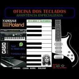 Oficina dos teclados. Yamaha,Casio,Roland,Korg