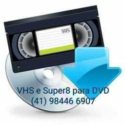 Conversão de vhs para dvd ou mp4