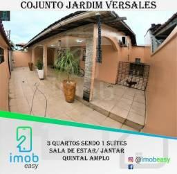 Casa Jardim Versalles, 3 quartos sendo 1 suíte, área externa ampla