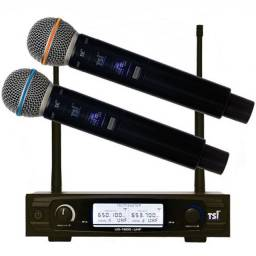 Kit microfone sem fio duplo
