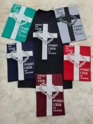 5 camisetas novas por 100