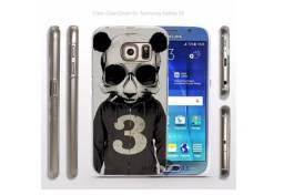 Capa Case Bumper Retro Alto Relevo Plástico Acrílico Silicone Galaxy S6 G920
