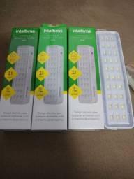 Kit 3 luminárias de emergência Intelbras 30 leds