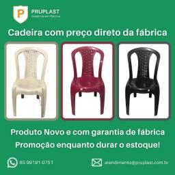 Cadeira Plástica nova direto de fábrica com garantia