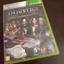 Jogo original Xbox 360 injustice ultimate edition