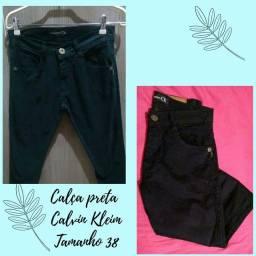 Calça sarja preta - Calvin klein