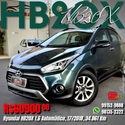 Smart Veículos - Hyundai HB20X 1.6 Automático, 17/2018, 34.061 Km. R$ 60.900,00