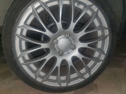 Jogo de rodas aro 17 com pneus semi novos
