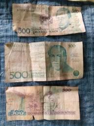 Dinheiros é moedas antigos