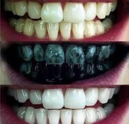 Gel dental clareador de carvão ativado e aloe vera em promoção