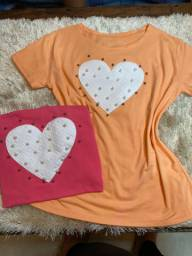 T-shirts candy colors variadas