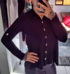 Camisa preta Tam M
