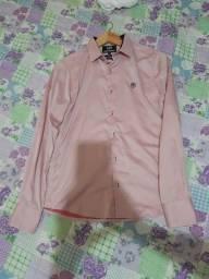 Camisa social herrero 01 usada uma vez