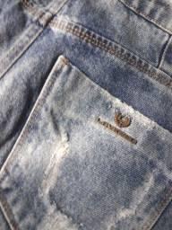 Short jeans lado avesso
