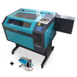 Máquina Router Laser cnc VS6040 corte e gravação a laser 80w com 4º eixo rotativo Visutec