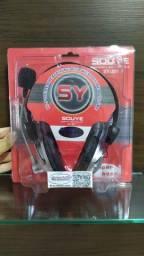 Fone Headset Com Microfone Sougt SY-301